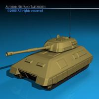 generic tank 3d 3ds