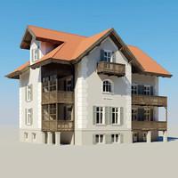 3d max photoreal villa