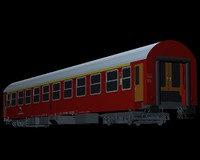 wagon passenger zssk 3d model