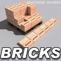 Bricks and pallet