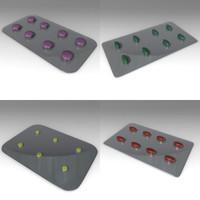pill plate 3d 3ds