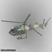 eurocopter brazil army 350 3d obj