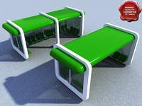 3d bus stop v3 model