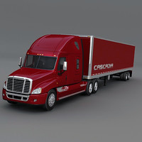 Freightliner Cascadia with trailer