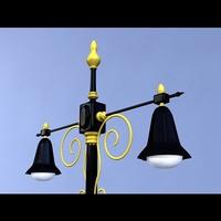3d classic street light model