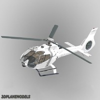 3d eurocopter ec-130 generic white