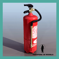 3d model extinguisher 15kg