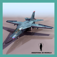 f111 e tactical fighter 3d model