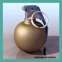 3ds max hand grenade m67 wwii