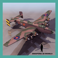HANDLEY PAGE HALIFAX BIII BRITISH BOMBER WWII