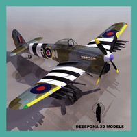 3d hawker typhoon british fighter