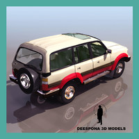 3d model toyota land cruiser 80vx