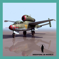 3d model heinkel 162 volksjäger people´s