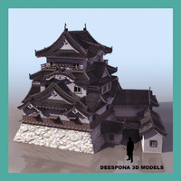 3d model hikone meiji japanese castle