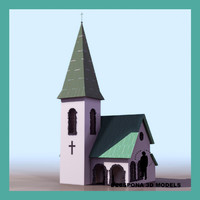 little church 3d model