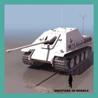 jagdpanzer german hunting tank 3d max