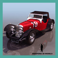 s100 targa florio 1937 3d model