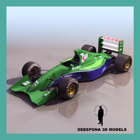 JORDAN 191 EUROPEAN FORMULA RACING CAR
