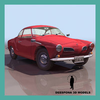 3ds max karmann ghia 1968 german
