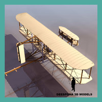 3d kitty hawk wright brothers model