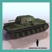 3d soviet russian tank kv model