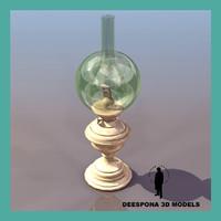 vintage oil cristal ball 3d max