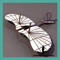 3ds max otto lilienthal gleiter glider