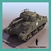 M4 A3 (75) W SHERMAN US TANK WWII