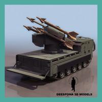 3d model m730 a1 chaparral missile
