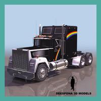 3d model rainbow american truck mack