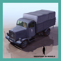 3ds max mercedes l3000 german military truck