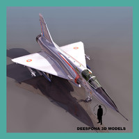 mirage delta 2000 french 3d model