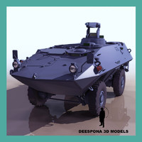 3d model 4x4 mowag piranha armoured