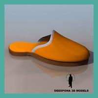 3d mule arab shoe model