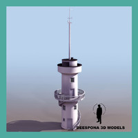 3d observation coast tower searchlight