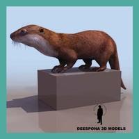 3d model otter