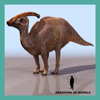 3ds max parasaurolophus dinosaur