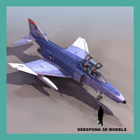 phantom f4 fighter 3d model