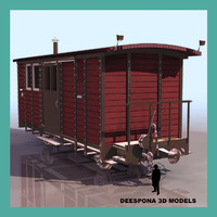 3ds max mail wagon train
