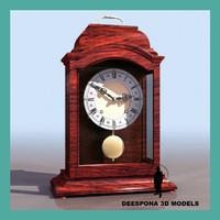 3d model of italian pendulum antique table