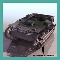 3d french utility armoured tractor model