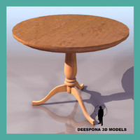 wooden hepplewhite table 3d max