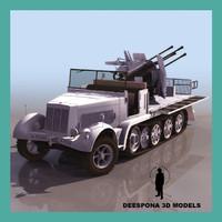 3dsmax sdkfz 7-1 8 ton