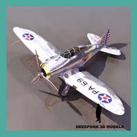 3ds max seversky usaf fighter wwii
