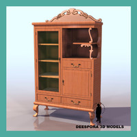 3ds max sideboard bookshelf cabinet