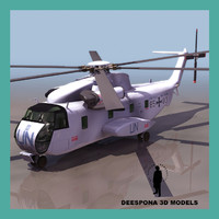 3dsmax ch53 helicopter united nations