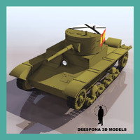 3d russian t-26 b tank model