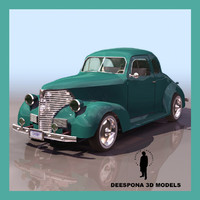 3d model vintage chevy car 30s