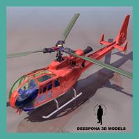 3d max gazelle eurocopter