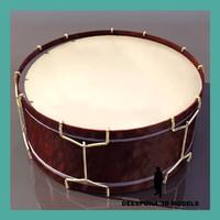 concert drum 3d max